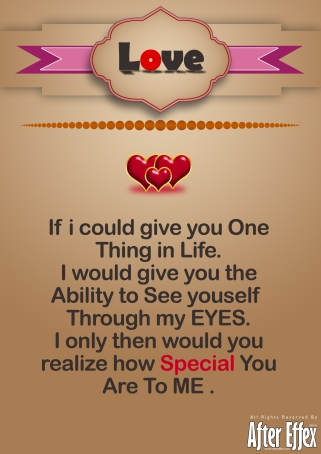 You Are Special To ME !